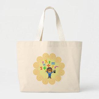 Math Girl Large Tote Bag