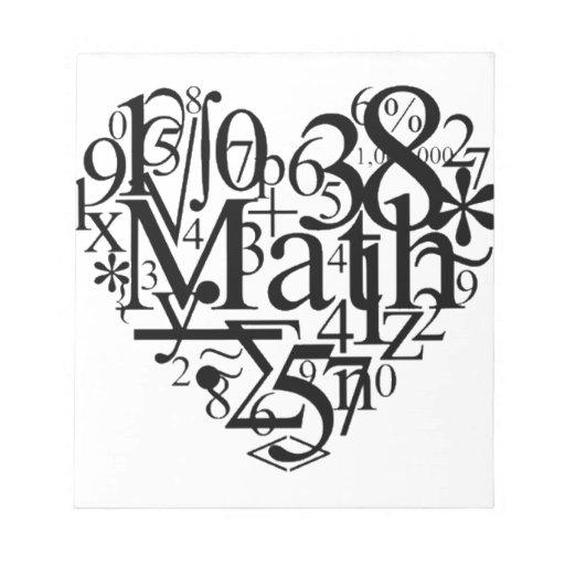 Math Heart Notepad