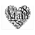 Math Heart Postcard