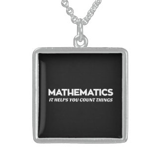Math Helps You Count Square Pendant Necklace