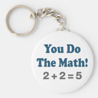 Math Humor Basic Round Button Keychain