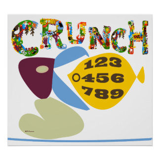 Math humor 'crunch numbers' illustration Print