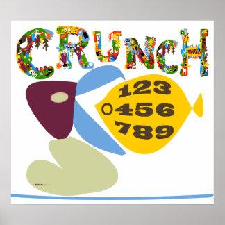 Math humor 'crunch numbers' illustration Print