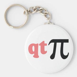 Math Humor - Cute Tee Pi Basic Round Button Keychain