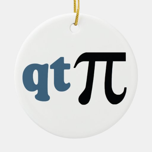 Math Humor - Cute Tee Pi Double-Sided Ceramic Round Christmas Ornament