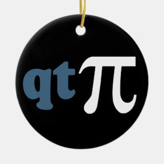 Math Humor - Cute Tee Pi Christmas Tree Ornament