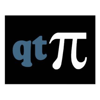 Math Humor - Cute Tee Pi Post Card