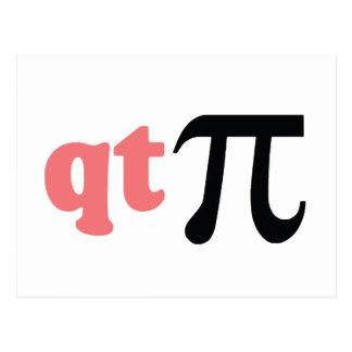 Math Humor - Cute Tee Pi Postcard