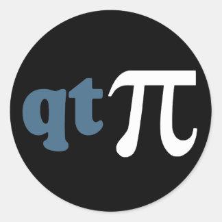 Math Humor - Cute Tee Pi Classic Round Sticker