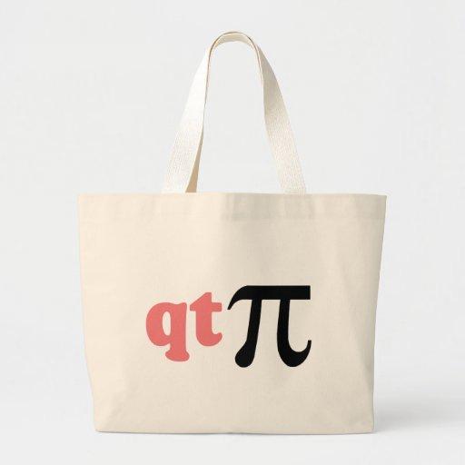Math Humor - Cute Tee Pi Tote Bags