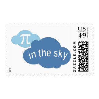 Math Humor Pi in the Sky! Postage Stamp