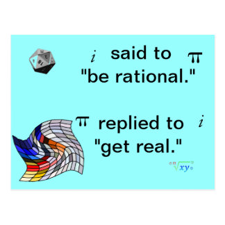 Math humor Postcard