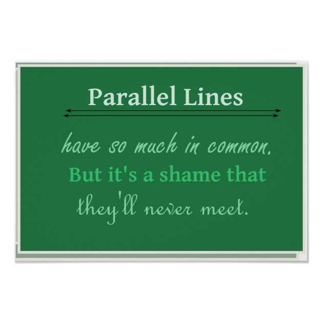Math Humor Quote Parallel Lines Poster Zazzle - Create Your Own Wall Stickers