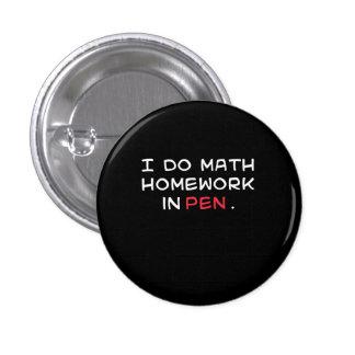 Math in Pen 1 Inch Round Button