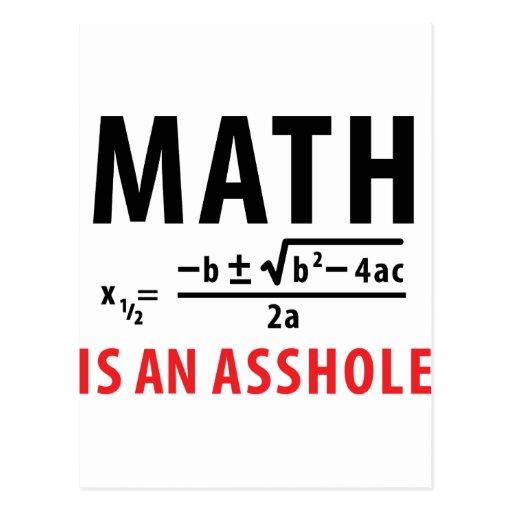 math is an asshole postcard
