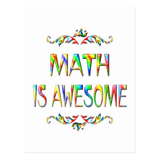 Math is Awesome Postcard