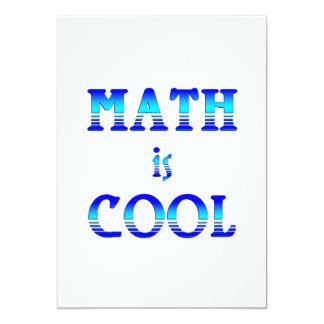 Math is Cool 5x7 Paper Invitation Card
