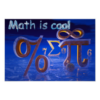 Math is Cool Poster