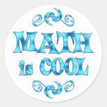 Math is Cool Round Sticker