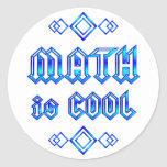 Math Is Cool Round Stickers
