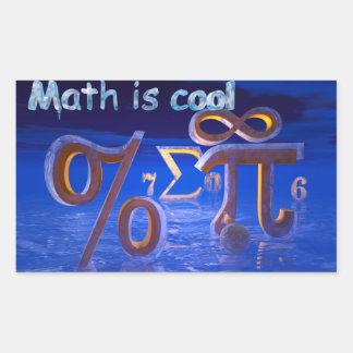 Math is Cool Rectangular Sticker