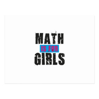 Math is for girls postcard