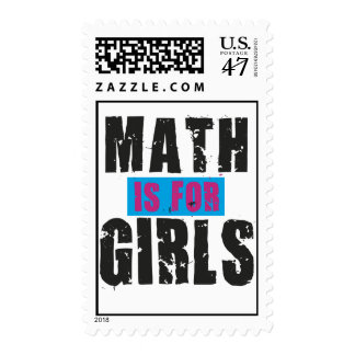 Math is for girls stamp