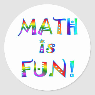 Math is Fun Classic Round Sticker