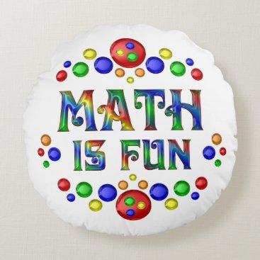Beach Themed Math is Fun Round Pillow