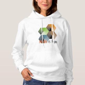 Math is fun sweatshirt with colorful diamonds