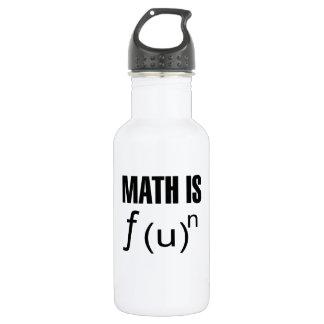 Math Is Fun Water Bottle