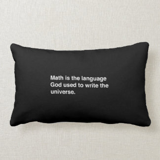 Math is Gods Language Lumbar Pillow