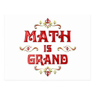 Math is Grand Postcard