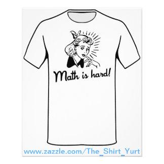 Math is Hard Flyers