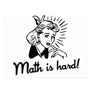 Math is Hard Post Cards