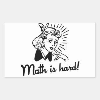 Math is Hard Rectangular Stickers