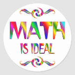Math is Ideal Round Stickers
