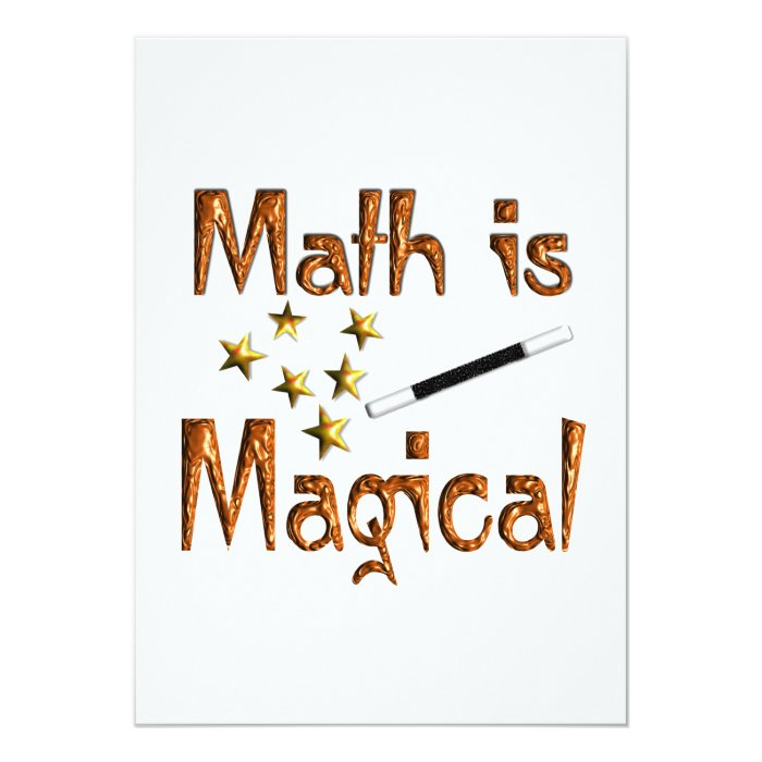 Math is Magical Card