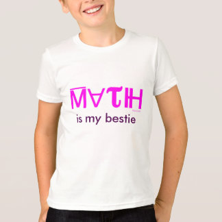 MATH IS MY BESTIE kids' t-shirt