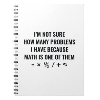 Math Is One Of Them Spiral Notebook