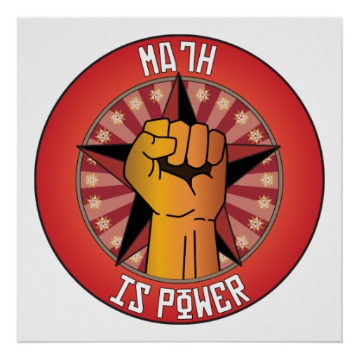 Math Is Power Poster