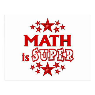 Math is Super Postcard