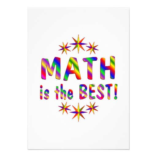 Math is the Best Invites