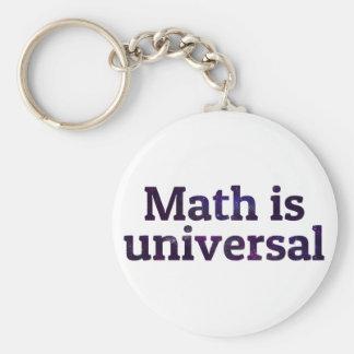 Math is universal galaxy basic round button keychain