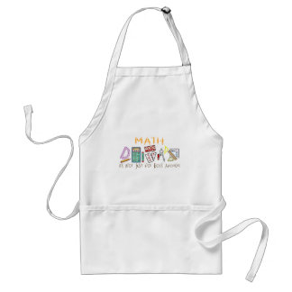 Math : It's Not Just For Boys Anymore Adult Apron