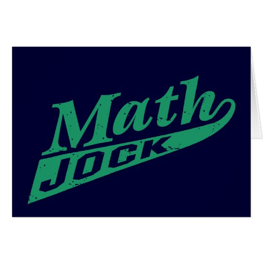 Math Jock Green Card