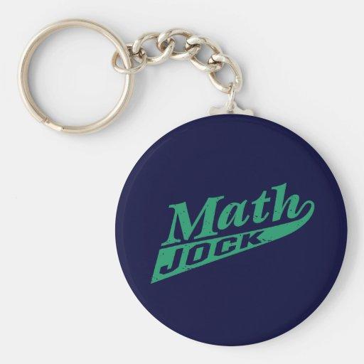 Math Jock Green Keychains
