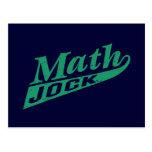 Math Jock Green Postcard