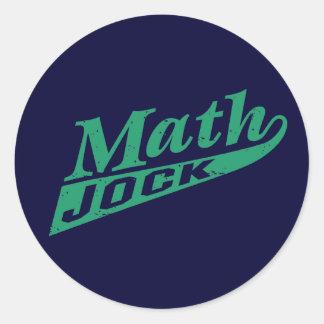 Math Jock Green Round Sticker