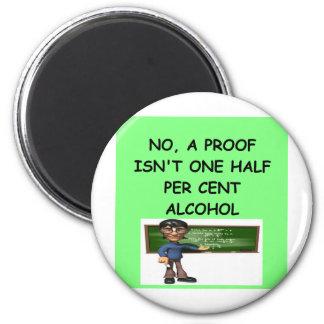 math joke 2 inch round magnet